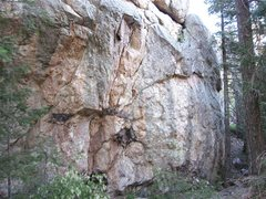 Rock Climbing Photo: Lower Wall.  Just beyond the tree the trail turns ...