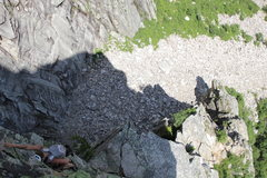 "Rock Climbing Photo: Jenny a few feet below ""the Pipe""."