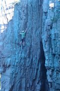 Rock Climbing Photo: Cody Brua on cleopatra 5.7