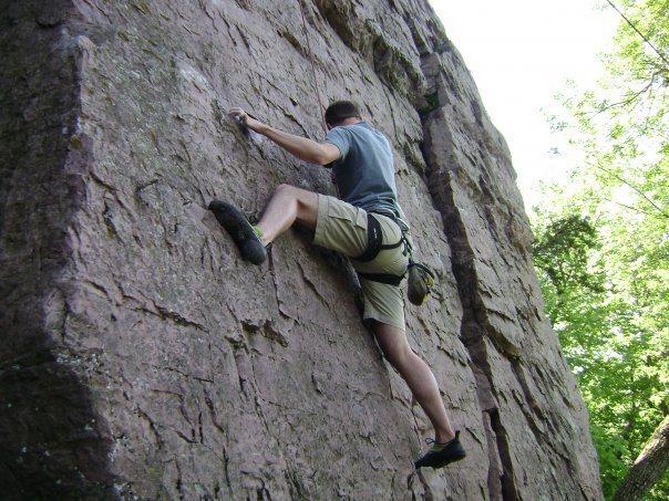 Rock Climbing Photo: Cody Brua on Hot Coals 5.9