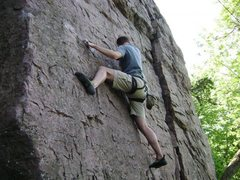 Rock Climbing Photo: Cody Brua on Hot Coals 5.9