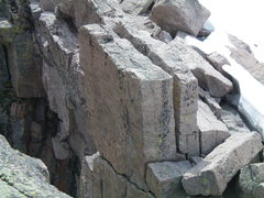Rock Climbing Photo: Rap chains at Chasm View.  Note that there is only...