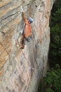 Rock Climbing Photo: Darek Kuczynski fully focused on the CoEx crux. Ey...