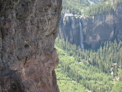 Rock Climbing Photo: The most exposed part of the Telluride Via Ferrata