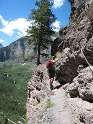 Rock Climbing Photo: Walking on the edge