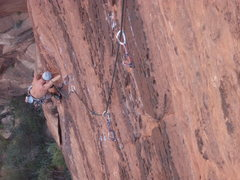 Rock Climbing Photo: Zach at the route crux p2