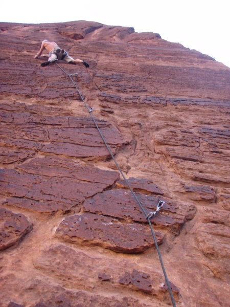 Rock Climbing Photo: Look up at p3