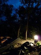 Rock Climbing Photo: Night session at Euro Boulder.