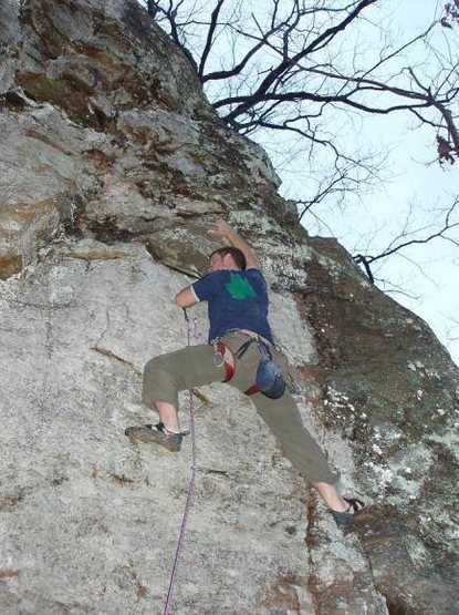 Rock Climbing Photo: Mike on KDAD 10c
