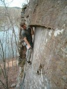 Rock Climbing Photo: Mike on Mud Puppy 10b