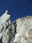 Rock Climbing Photo: Vincent downclimbing the prow to the right of the ...