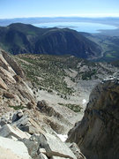Rock Climbing Photo: The top of the descent to reach the base of the ro...