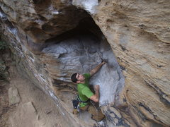 Rock Climbing Photo: Greenhorn - Solar Collector Wall - RRG, KY