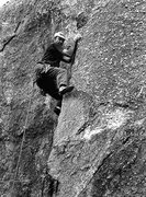 "Rock Climbing Photo: Todd Gordon on the FA of ""Testicle Festival&q..."