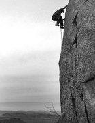 "Rock Climbing Photo: Todd Gordon on the FA of ""Krystal Ball""...."