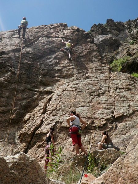 Rock Climbing Photo: 5.8 route near tunnel 2 in Clear Creek Canyon