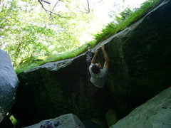 Rock Climbing Photo: In the crux section.