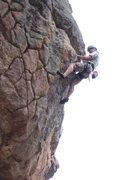 Rock Climbing Photo: Geir working the route. This climb is short and ha...