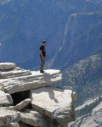 Rock Climbing Photo: Top of half dome after climbing Snake Dike 5.7R