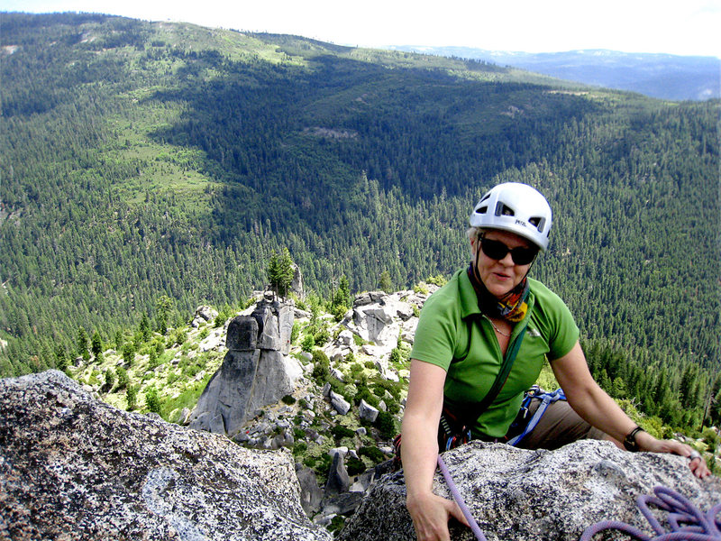 Former Arizona climbing pal Monica says hello to Sierra country granite. =)<br> <br> June 2010