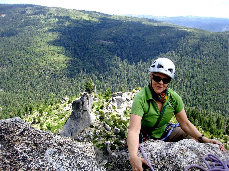 Rock Climbing Photo: Former Arizona climbing pal Monica says hello to S...