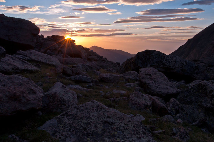 Sunrise from Chasm Lake.