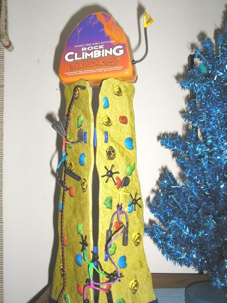 New portable climbing wall