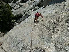 Rock Climbing Photo: Rhesa Ashbacher on Under the Rainbow.