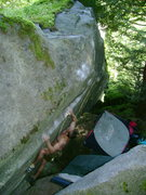 Rock Climbing Photo: Nate on the sloping rail.