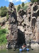 Rock Climbing Photo: Again some deepwater freesoloing on the Colorado R...
