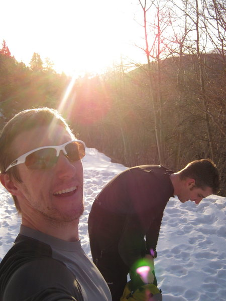 Chris and Aaron head towards Mt.Bancroft