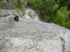Rock Climbing Photo: Wyatt completes cool slab moves.