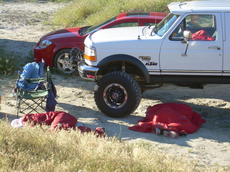 Rock Climbing Photo: Partied out concert goers!