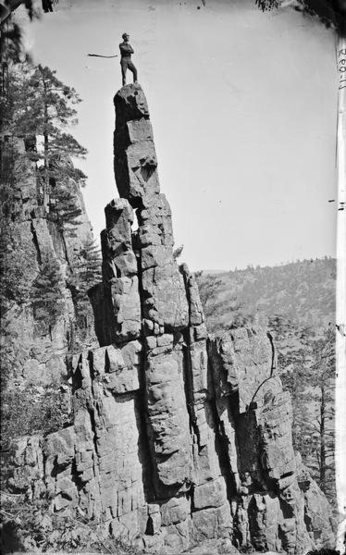 Rock Climbing Photo: Bold Ascent of Cleopatra's Needle