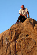 Rock Climbing Photo: Todd Gordon enjoying the summit. Photo by Blitzo.