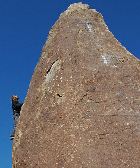 Rock Climbing Photo: Tucker Tech soloing a FA on Eddy Spire. Photo by B...