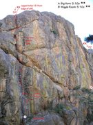Rock Climbing Photo: The south side of The Golden Hall:  Upper west fac...