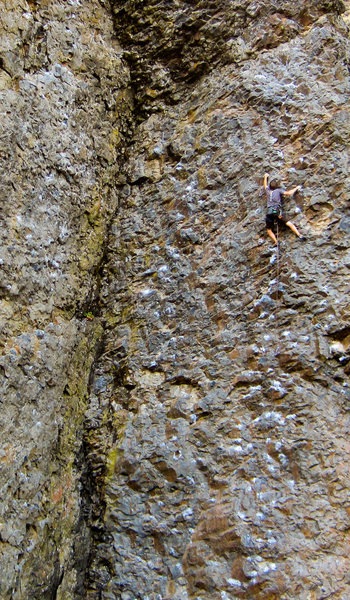 Rock Climbing Photo: Andrew wrapping up the final section of Pit Lizard