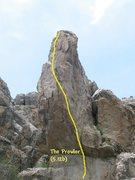 Rock Climbing Photo: The Prowler (5.12b), Holcomb Valley Pinnacles