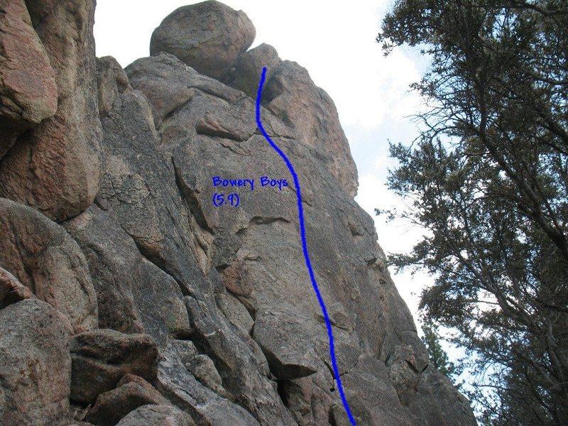 Rock Climbing Photo: Bowery Boys (5.9), Holcomb Valley Pinnacles