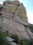 Rock Climbing Photo: 5.6ish curving crack