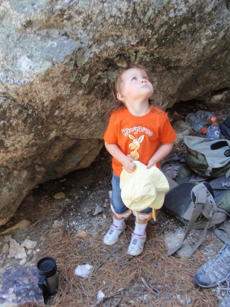 Rock Climbing Photo: Where the hell is my Daddy going ??!!