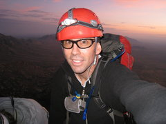Rock Climbing Photo: Sunrise behind me during our full moon climb of Su...