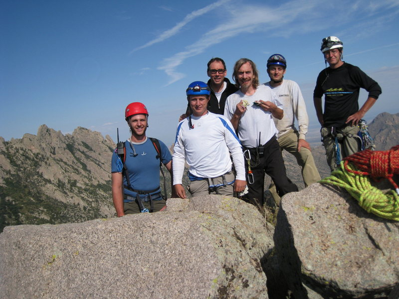 Summit shot after our full moon climb, Sept. 5-6, 2009