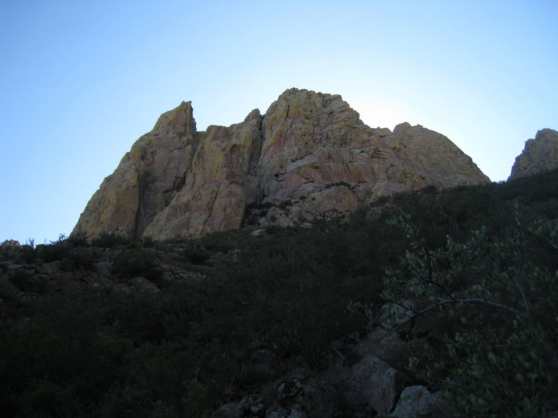 This shot shows the entrance to Boyer's Chute (the brushy pocket in the center of the photo)