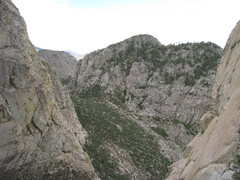 Rock Climbing Photo: The view of Rabbit Ears Massif from the first rap ...