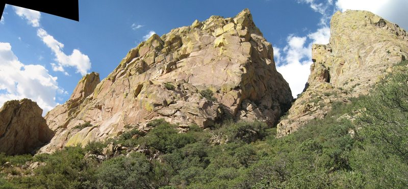 Rock Climbing Photo: This is a funky perspective (stitched photos), but...