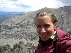 Rock Climbing Photo: happy to be at 13,000 ft. this is on sharkstooth