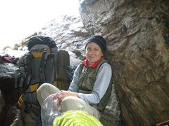 Rock Climbing Photo: happy and tired back at the bivy