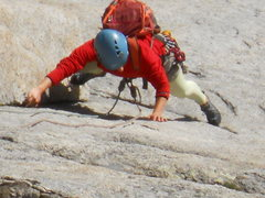 Rock Climbing Photo: following a pitch on the spearhead, syke's sickle....